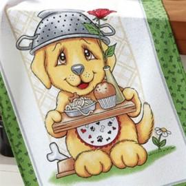 Pano Copa Prata Estampa Dog Food 2-DÖHLER