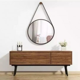 Espelho Decorativo Com Moldura Marrom- FWB