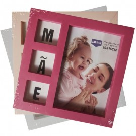 Kit 3 Porta Retratos Mãe Seu Amor Me Faz Bem 10X15Cm- JAVICK