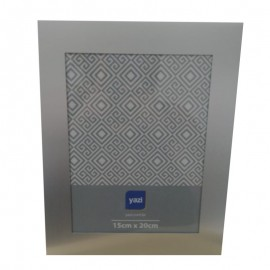 Porta Retrato Metal Cinza 15X20cm- YAZI