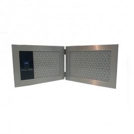 Porta Retrato Metal Duplo 10x15cm- YAZI