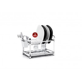 Escorredor Aço Inox de 16 Pratos-MAK INOX