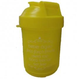 Garrafa Squeeze Frases 400 ML Amarelo- FRATELLI