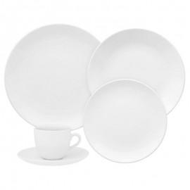 Aparelho De Jantar e Chá 20 Peças Porcelana Coup White Branco- OXFORD