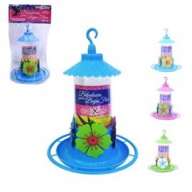 Bebedouro De Plastico Colors Para Beija Flor Com Poleiro E Chapeu 290Ml- MAXXIMO
