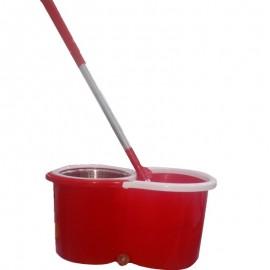 Mop Spin Centrifuga Inox Vermelho-HAI BRASIL
