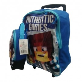 Kit Mochila E Lancheira Authentic Games- SESTINI