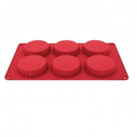 Forma Silicone Para 6 Tortinhas 29,5cmX17,3cmX 2,3cm Carol Fiorentino- YAZI
