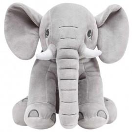 Elefantinho De Pelúcia 30Cm Cinza- BUBA