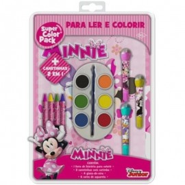 Kit Infantil Super Color Pack Aquarela Minnie Disney- DCL