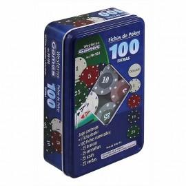Fichas de Poker -100 fichas - Western Games