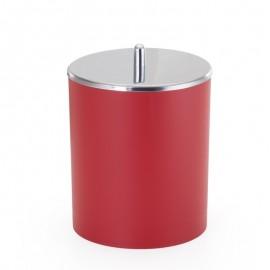 Cesto De Lixo Com Tampa Inox 5L Vermelho- ARTHI