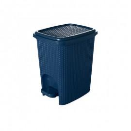 Lixeira Com Pedal Rattan 7L Azul- PLASUTIL