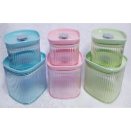 Conjunto 2 Potes de Plástico - ISANOG