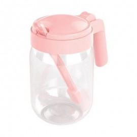 Açucareiro De Plástico Com Colher Rosa- PLASÚTIL