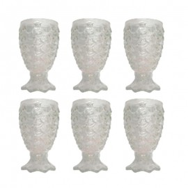 Conjunto Com 6 Copos De Vidro Abacaxi 200Ml- CHENG XIANG