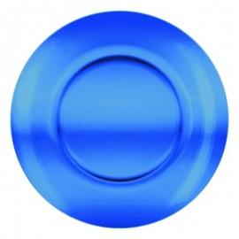 Prato Fundo De Vidro Azul Unitário- 123 ÚTIL