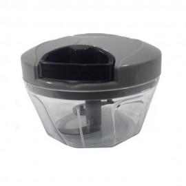 Processador De Alimentos Manual Triturador Cortador 3 Laminas Inox Preto- Clink