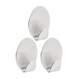 3 Gancho Oval De Metal Com Adesivo- ORDENE