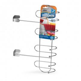 Cabide De Vassouras Para Porta Cromado- ARTHI