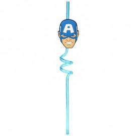 Canudo Avengers Capitão América- ETILUX