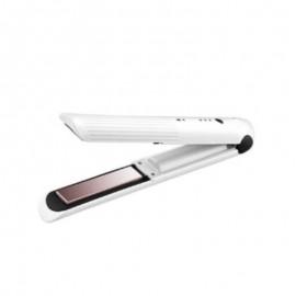 Prancha Para Cabelos Com Carregador USB Branca- YAHA